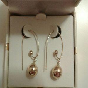 14K Hoop/Ball Earrings